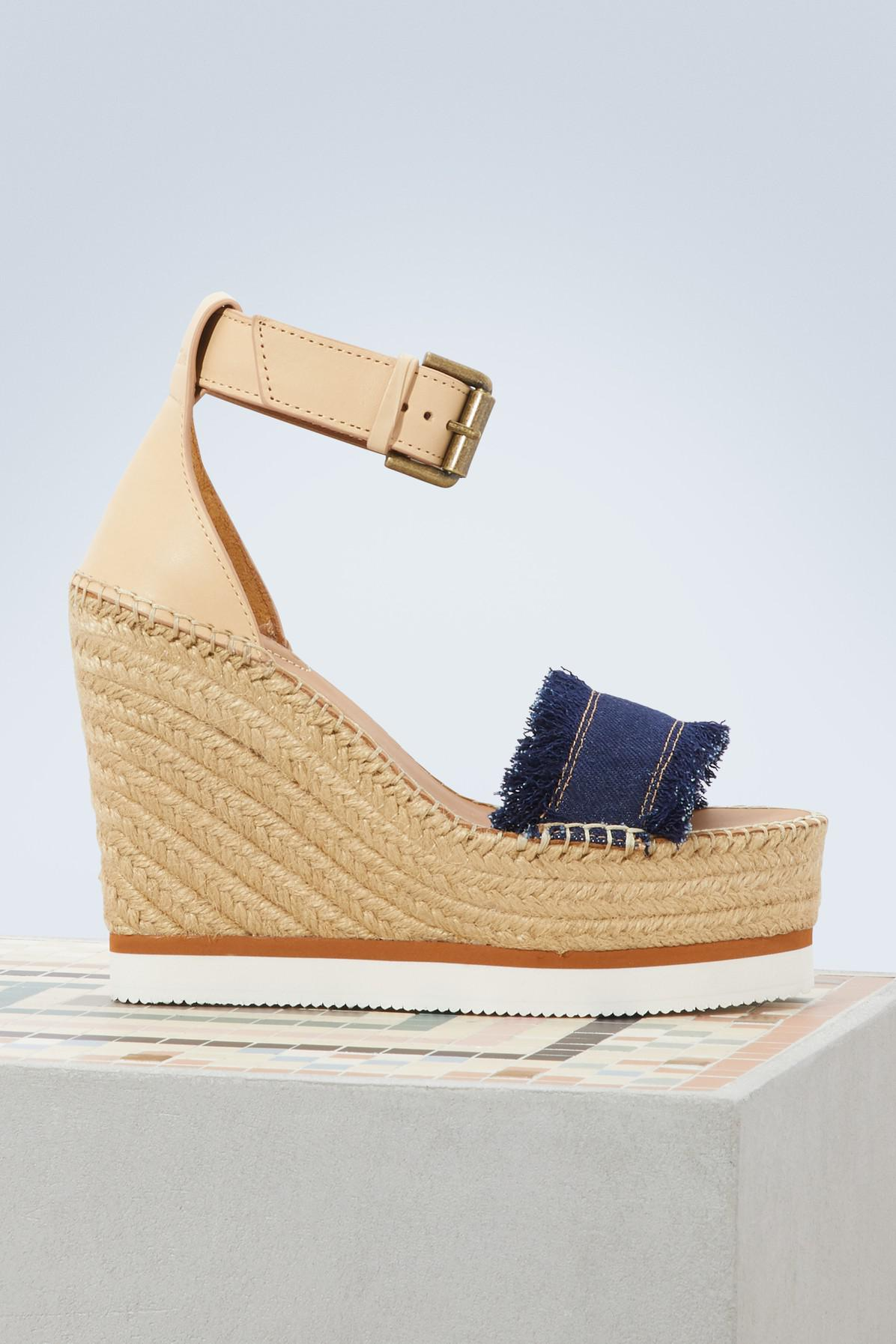 fee879cfed5 Lyst - Espadrilles compensées Glyn See By Chloé