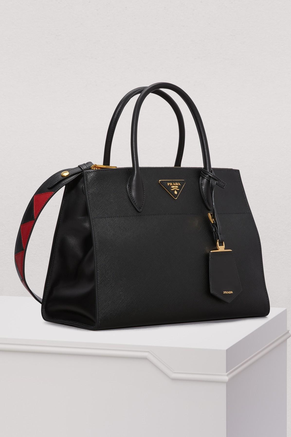 Prada - Black Paradigme Big Cross-body Bag - Lyst. View fullscreen 1c1ce344456d2
