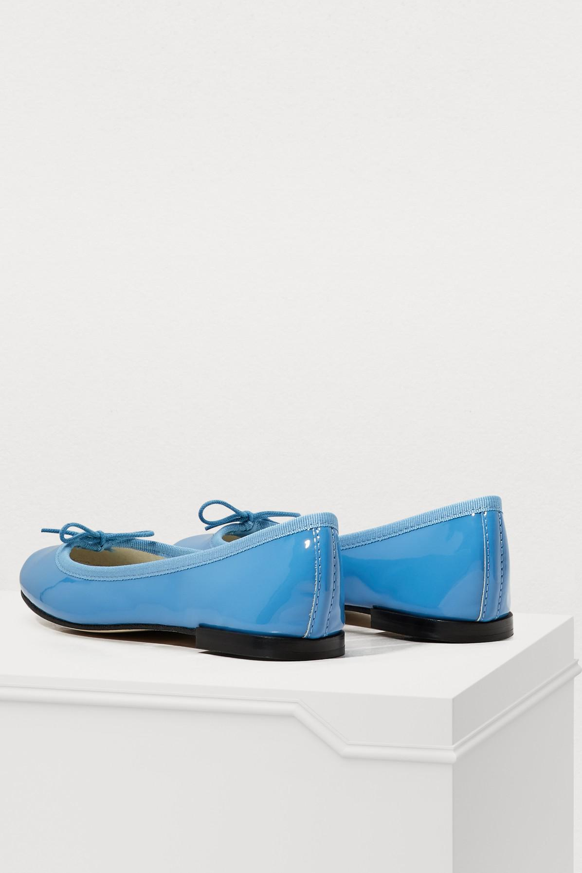 23db4b99400 Lyst - Repetto Cinderella Patent Leather Ballet Pumps in Blue