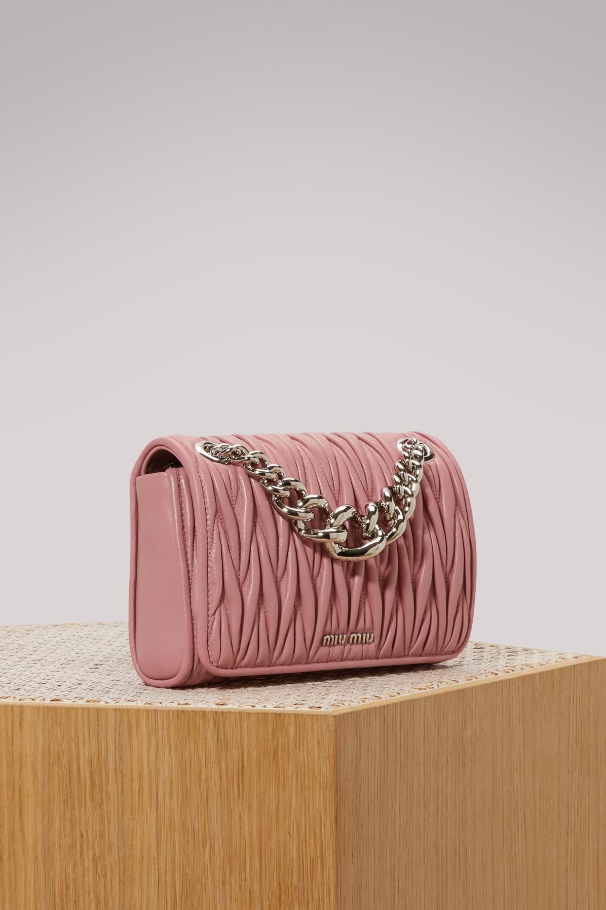 3efeb2c263af Miu Miu - Pink Club Matelassé Bag - Lyst. View fullscreen