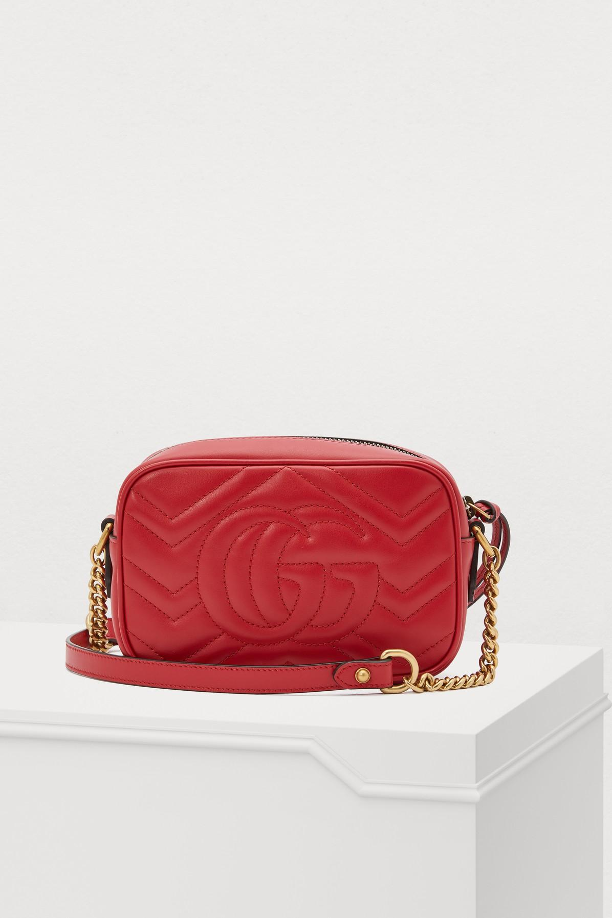89d6b24a26e806 Gucci GG Marmont Sm Crossbody Bag in Red - Lyst