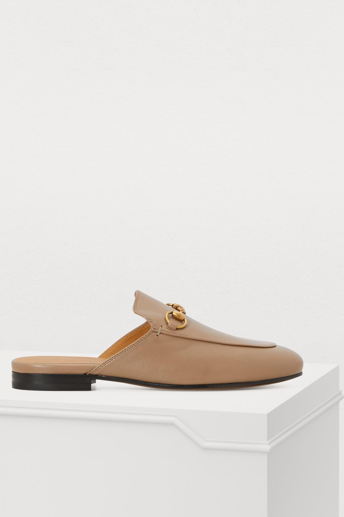 fe03ad8ffc8f Lyst - Gucci Taupe Princetown Slippers in Brown - Save 24%