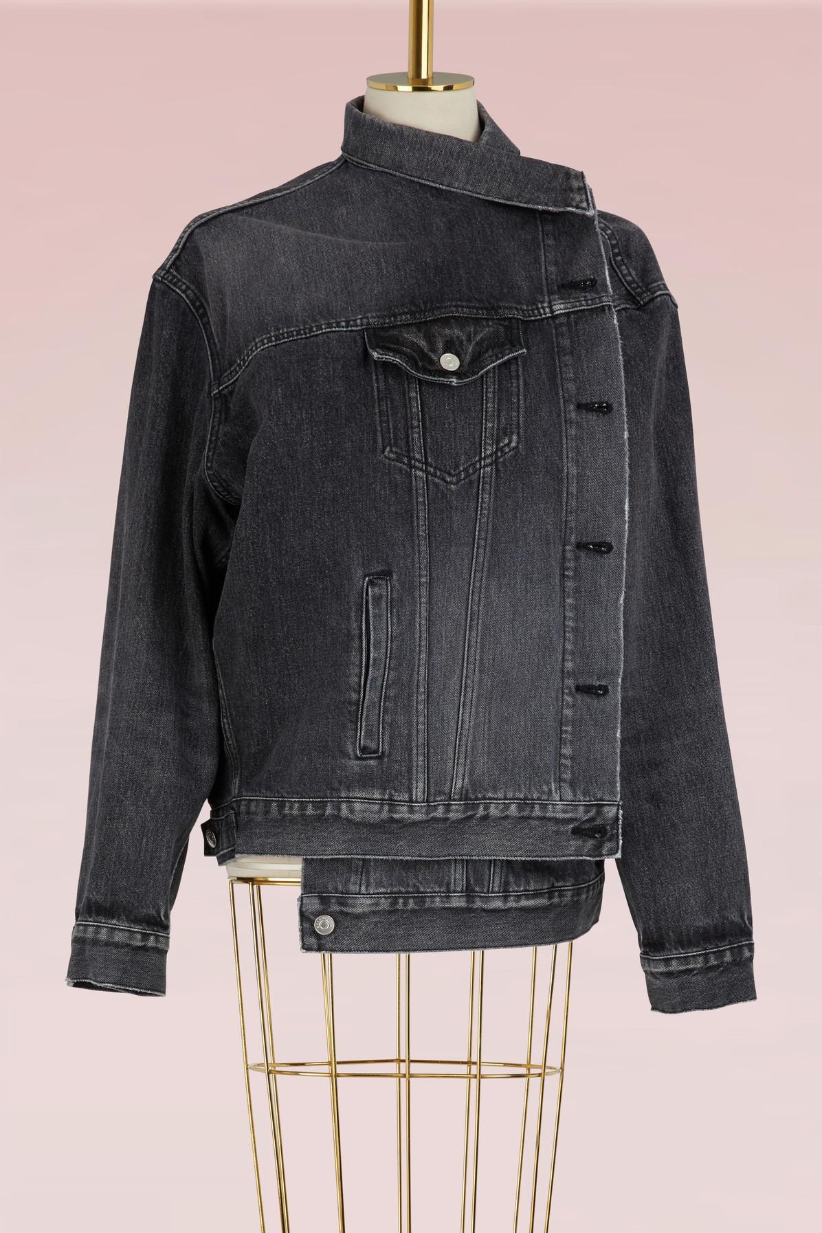 Factory Outlet Layered Quilted Denim And Fringed Gingham Wool Jacket - Black Balenciaga Store For Sale Discount Clearance Visit New For Sale 91aFQk