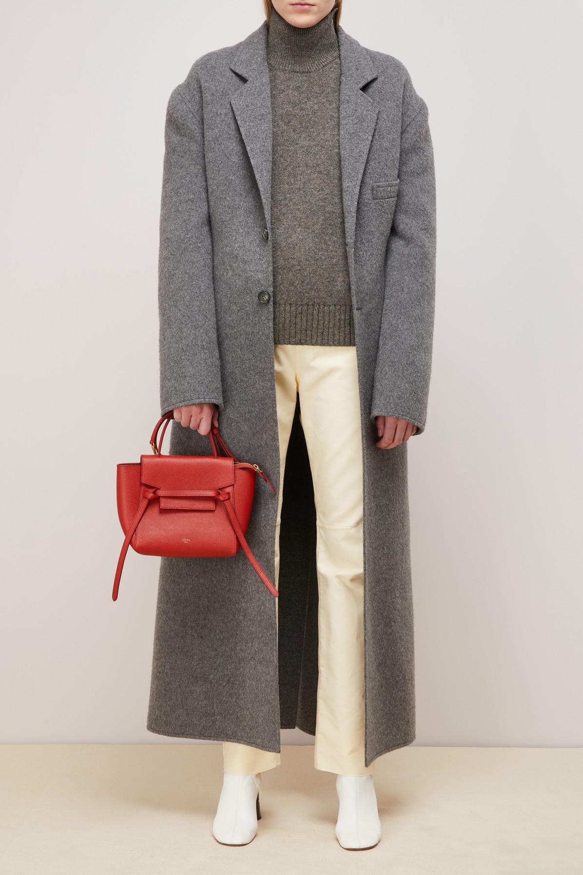 06751e5f07 Céline Nano Belt Bag In Grained Calfskin in Red - Lyst