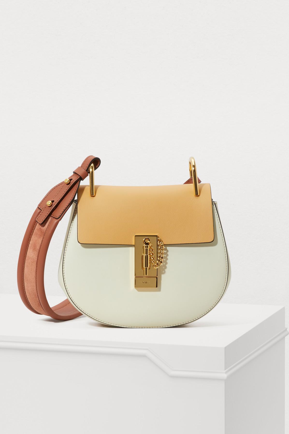 cc7837fb95c72 Chloé Drew Mini Shoulder Bag in Brown - Lyst