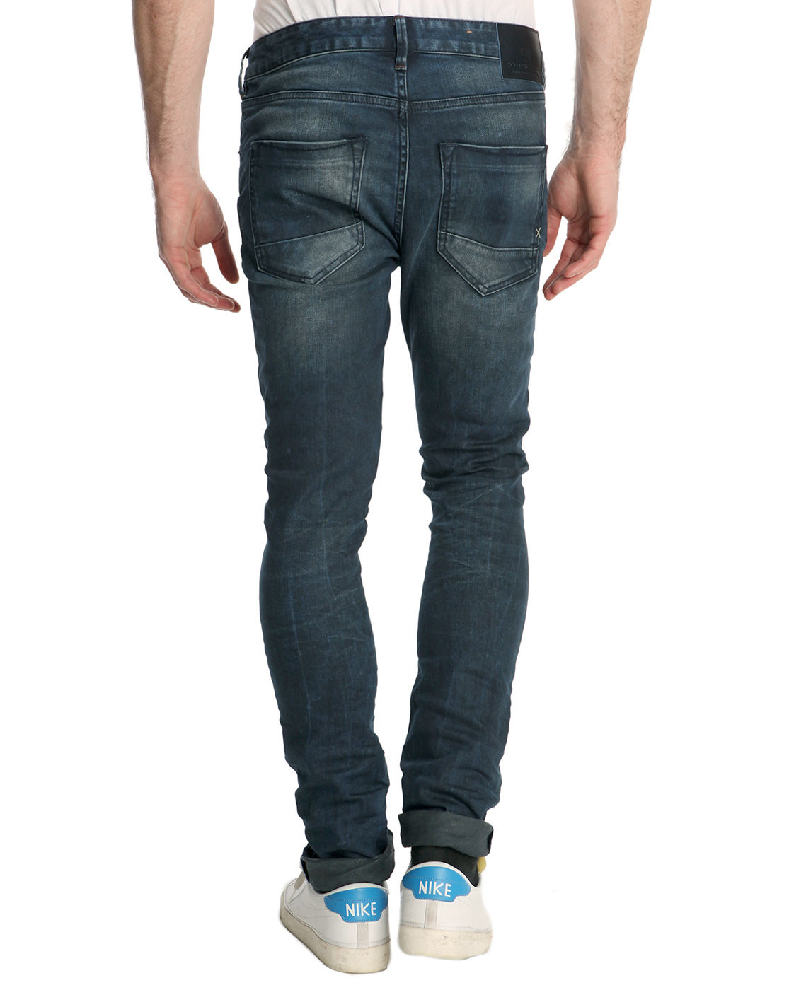 scotch soda skim used denim skinny jean in blue for men. Black Bedroom Furniture Sets. Home Design Ideas