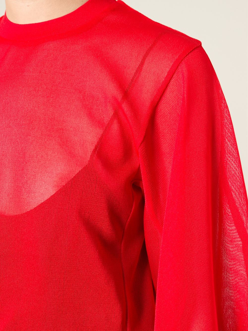 Toga pulla Sheer Sweater in Red | Lyst