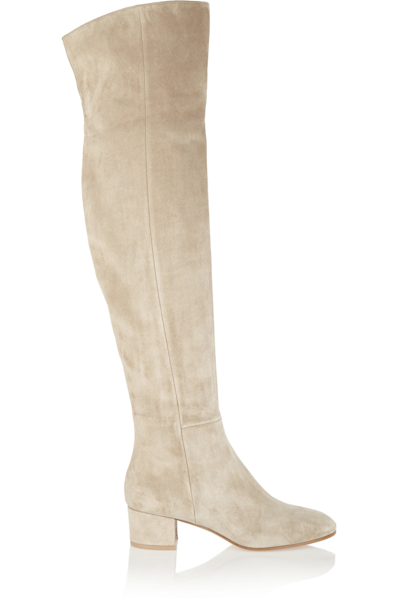 How to Wear Beige Suede Boots