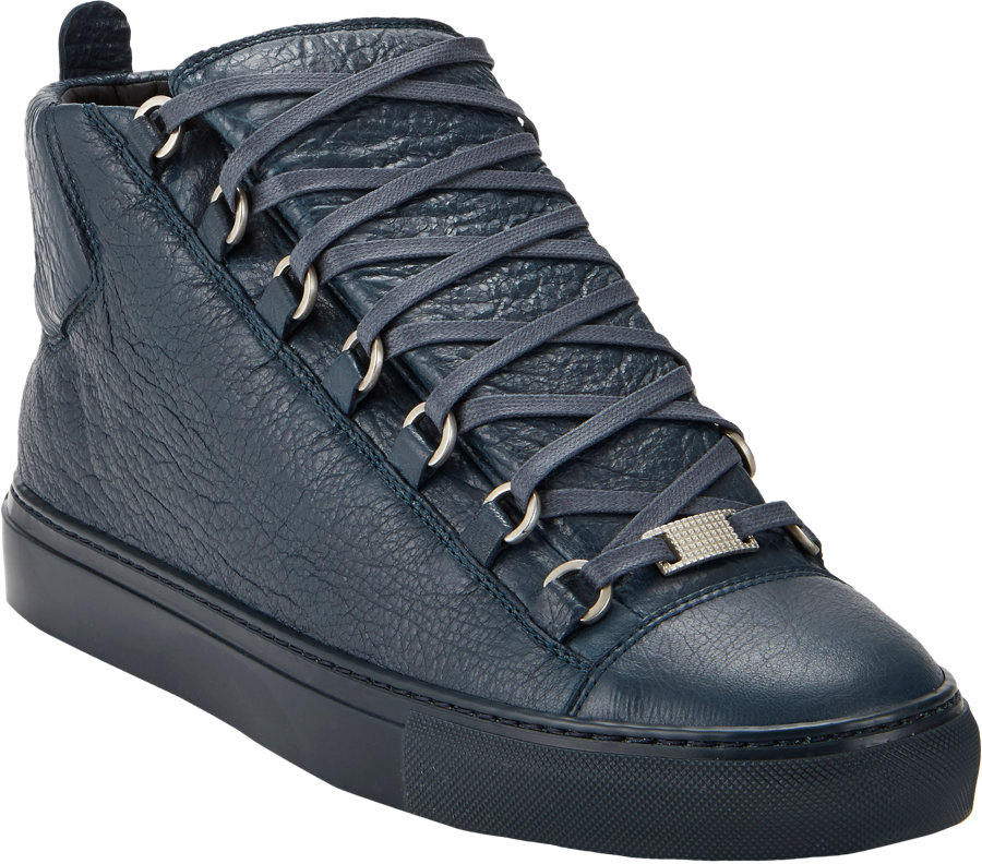 balenciaga arena hightop sneakers in blue for men lyst. Black Bedroom Furniture Sets. Home Design Ideas