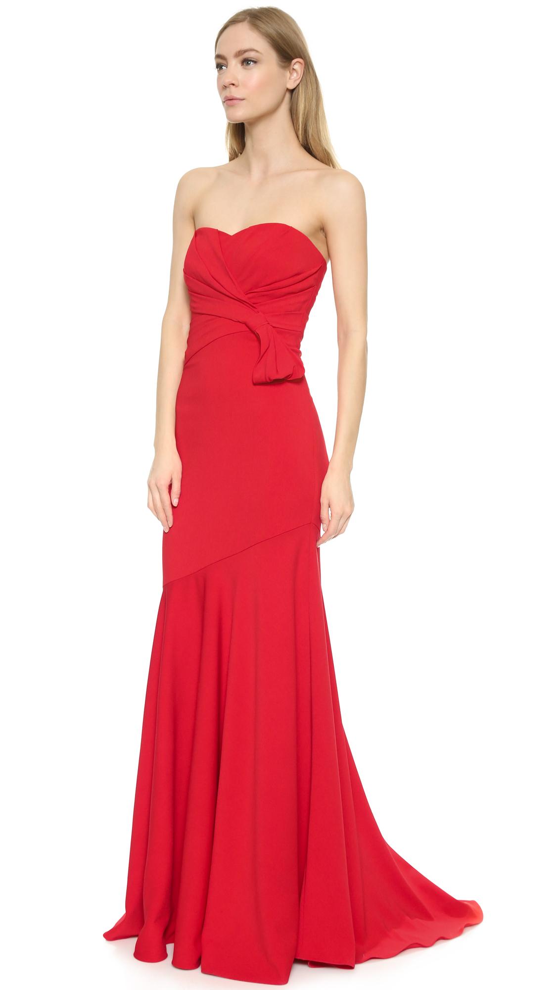 Badgley Mischka Red Dress – fashion dresses