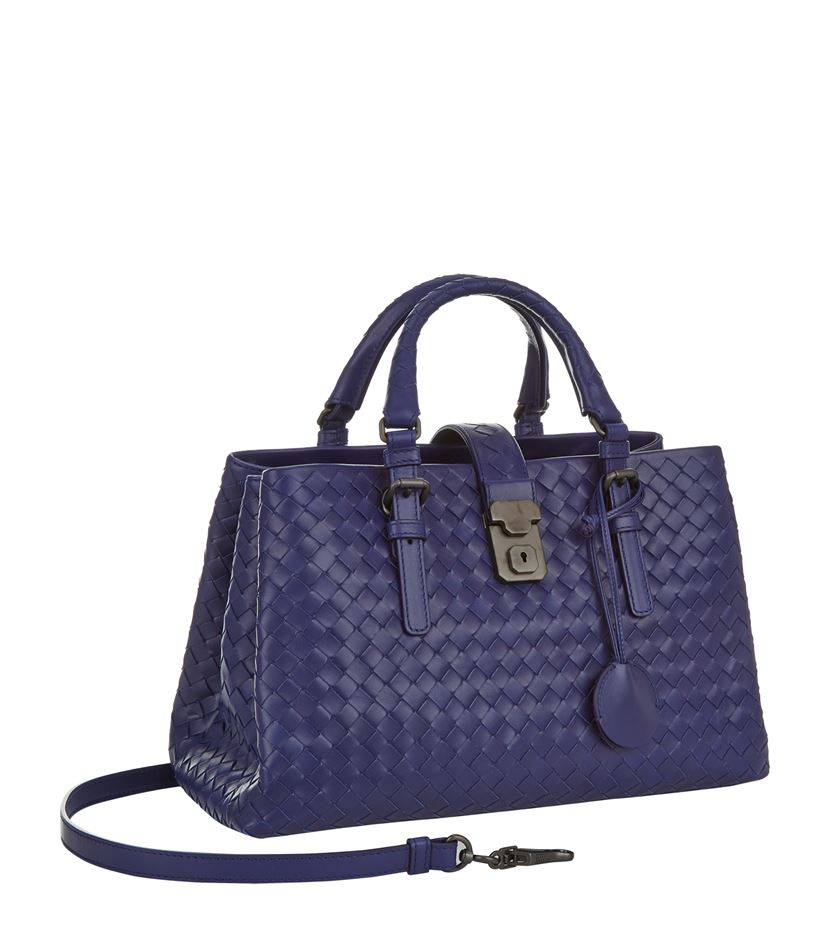 Bottega Veneta Intrecciato Roma Bag in Blue - Lyst cdfbd6a2a1e2b