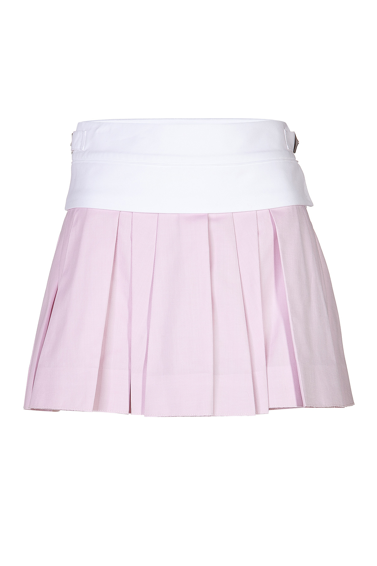 wang pleated mini skirt in cotton in pink