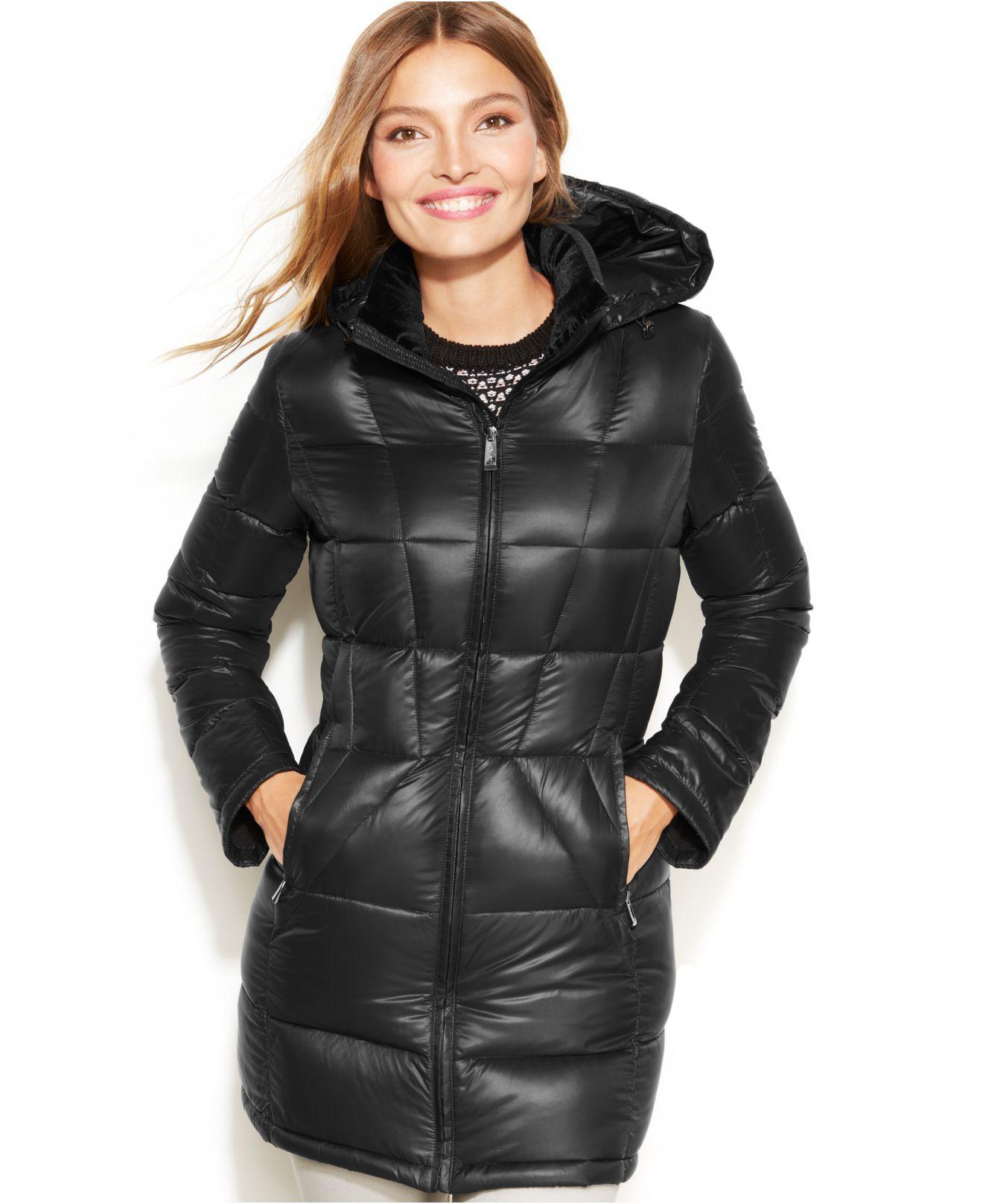 Lyst Calvin Klein Packable Hooded Down Puffer In Black