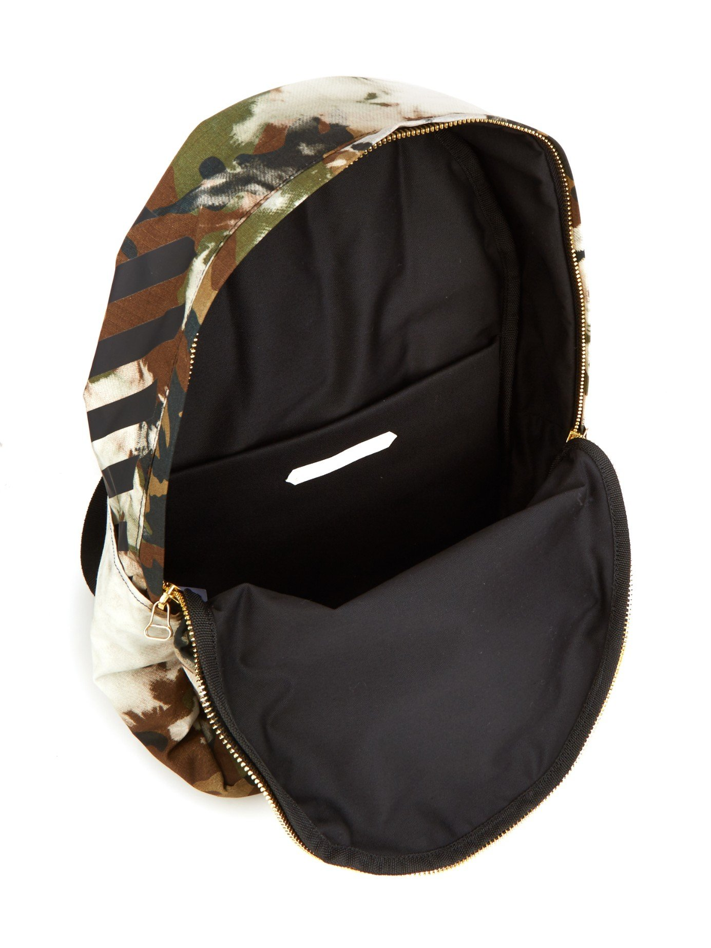 off white c o virgil abloh architectural camo backpack in. Black Bedroom Furniture Sets. Home Design Ideas