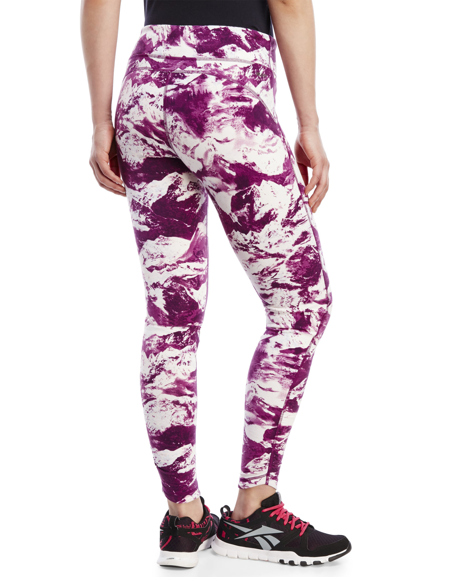 New balance Performance Printed Tights in Pink | Lyst