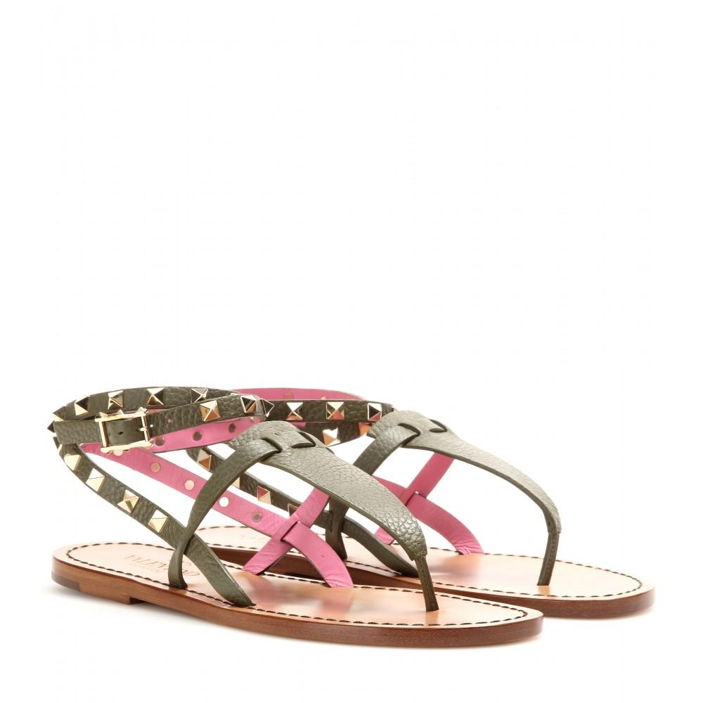 Valentino Pink Medusa Sandals ktiiWG