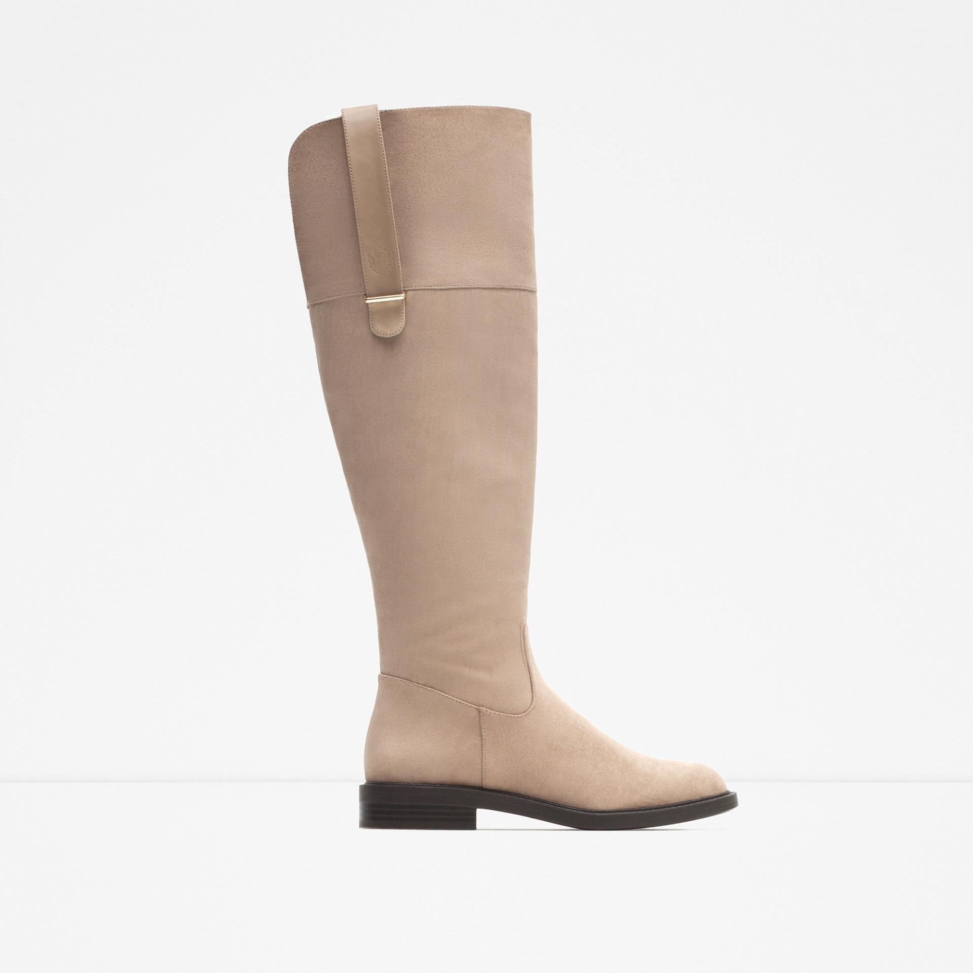 zara boots in brown lyst
