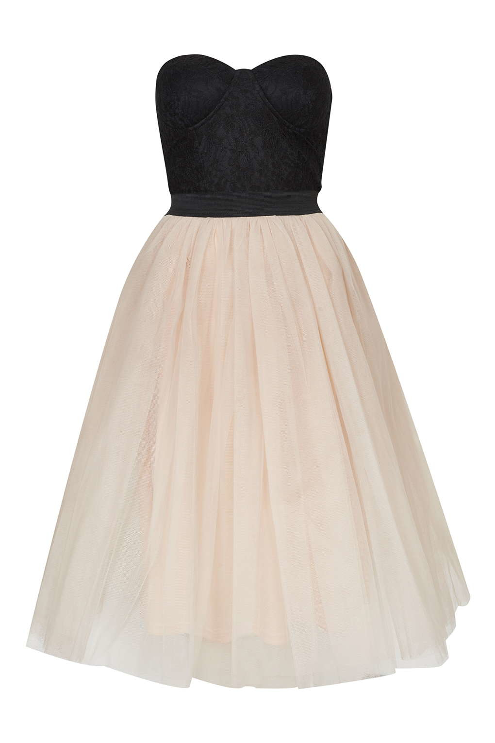 b60d2cafef24 TOPSHOP Bustier Tutu Prom Dress By Rare in Black - Lyst