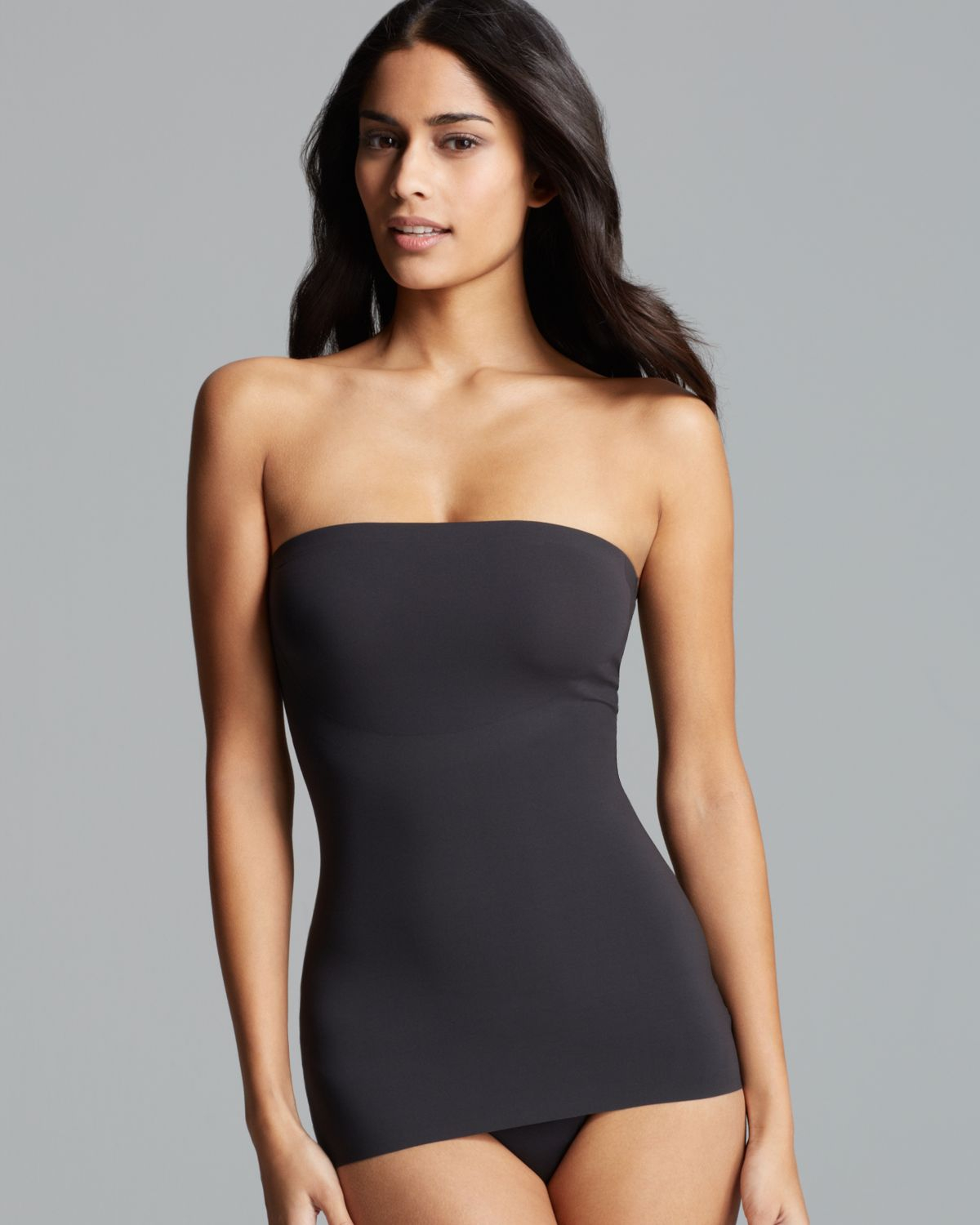 031a9385d8d5a Lyst - Spanx Trust Your Thinstincts Strapless Camisole in Black