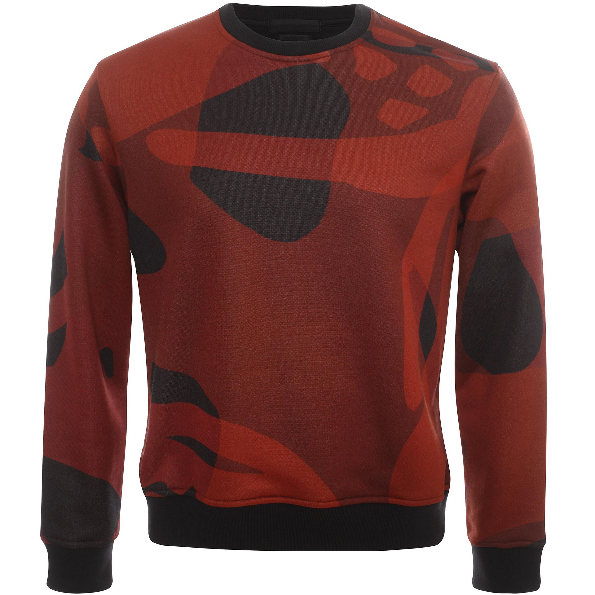 alexander mcqueen skull print sweatshirt in red for men lyst. Black Bedroom Furniture Sets. Home Design Ideas