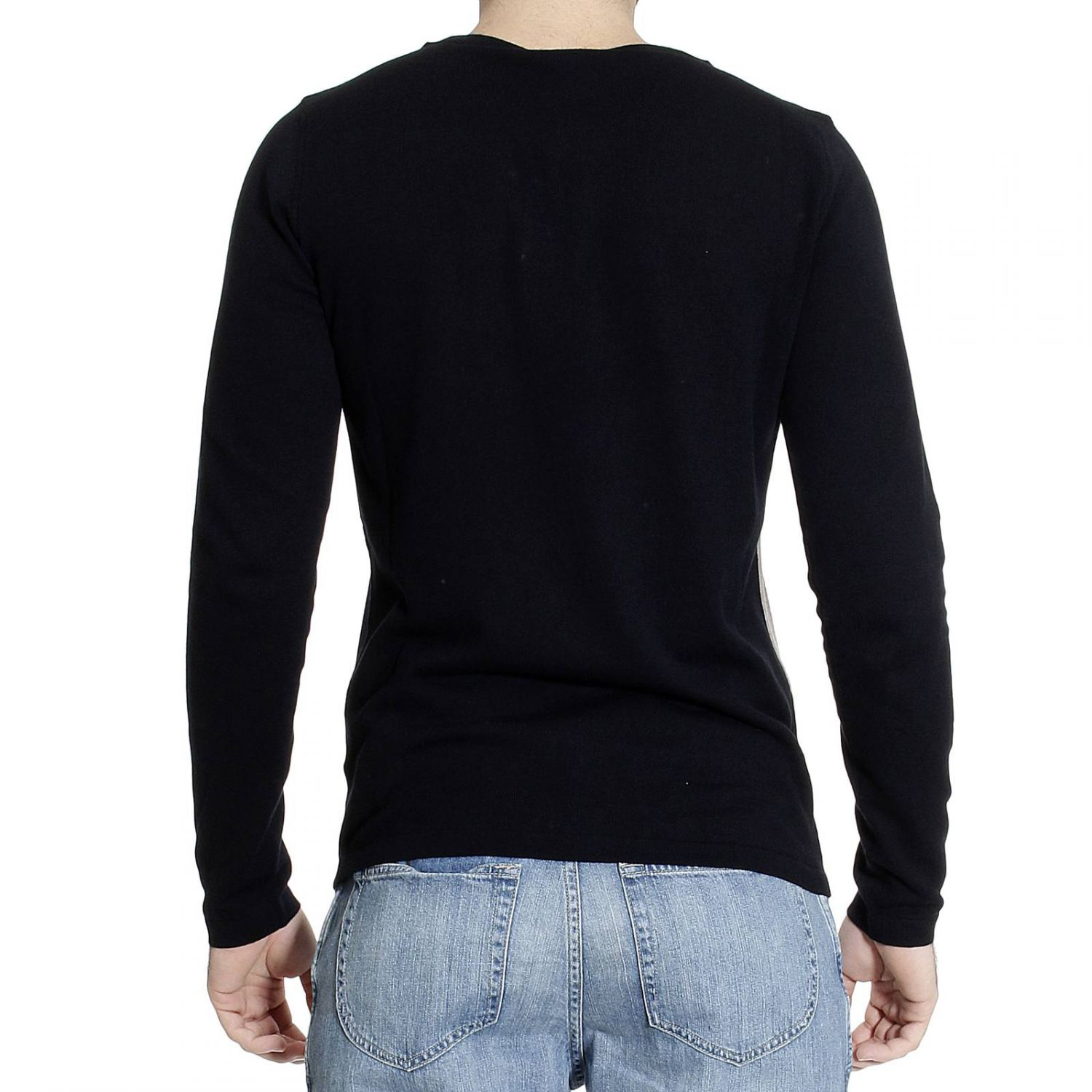 emporio armani sweater long sleeve roundneck punzonato. Black Bedroom Furniture Sets. Home Design Ideas