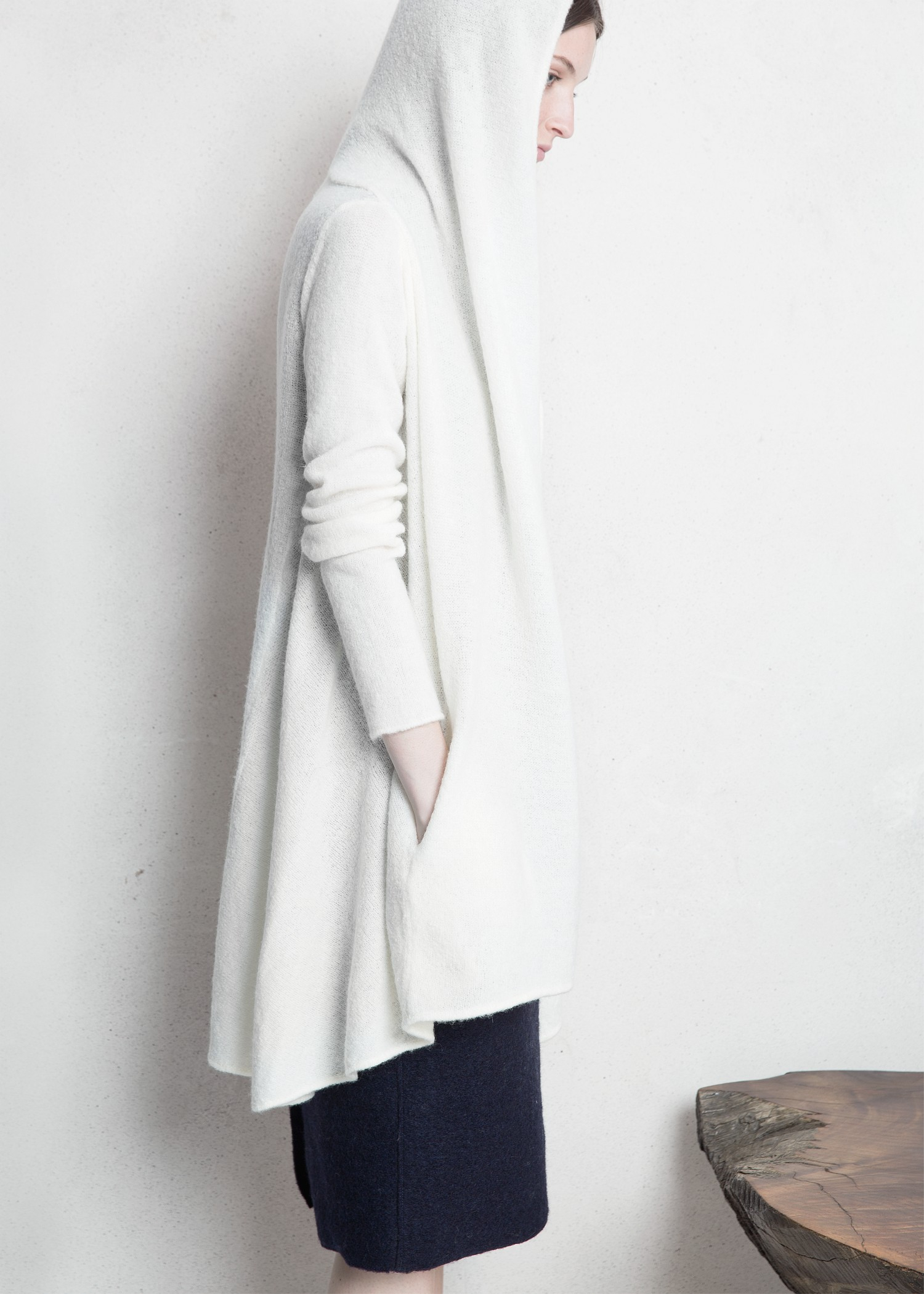 Long White Cardigan Sweater