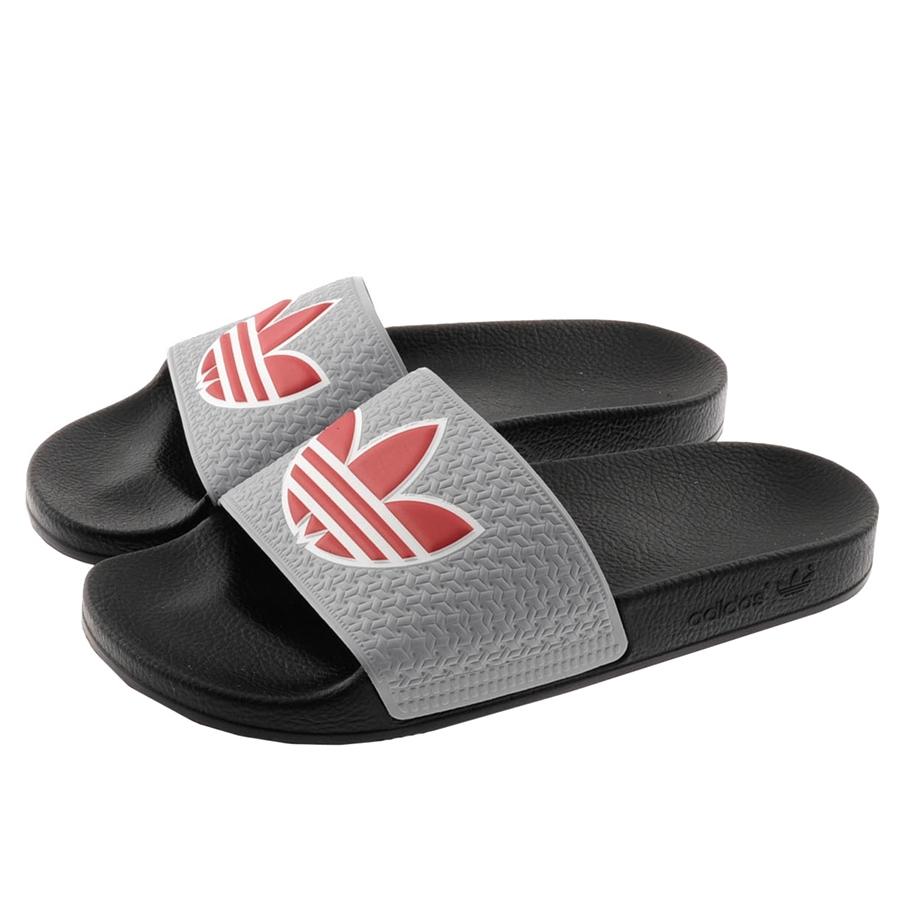 8a7cfc2be50f10 Lyst - adidas Originals Adilette Trefoil Flip Flops in Gray for Men