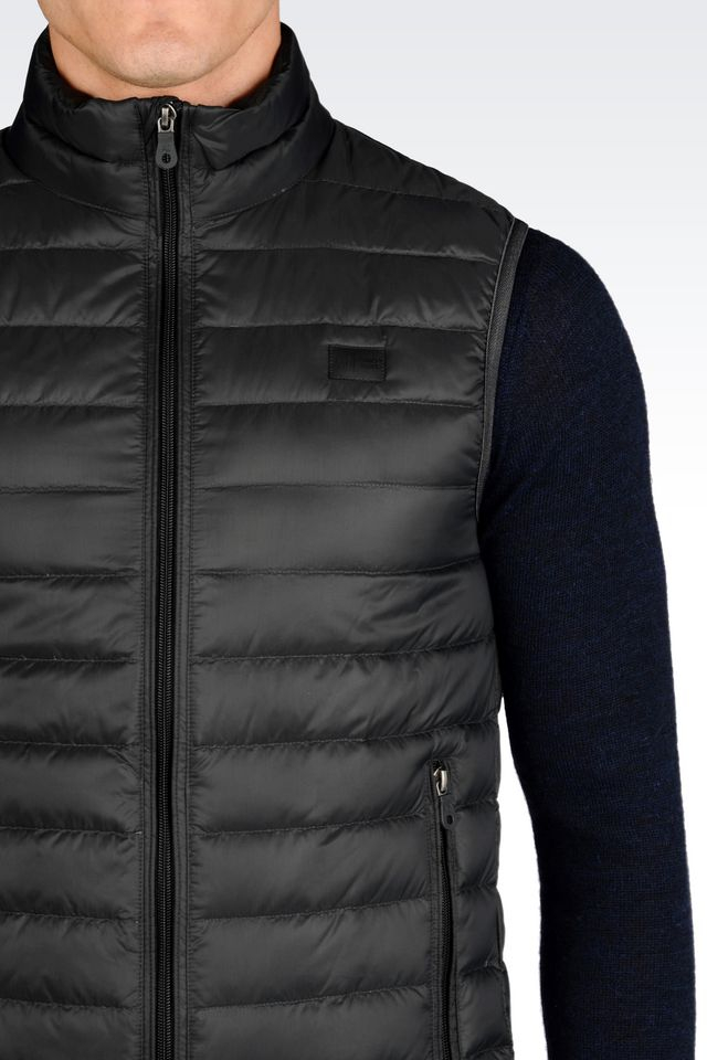 Lyst Armani Jeans Padded Vest In Gray For Men