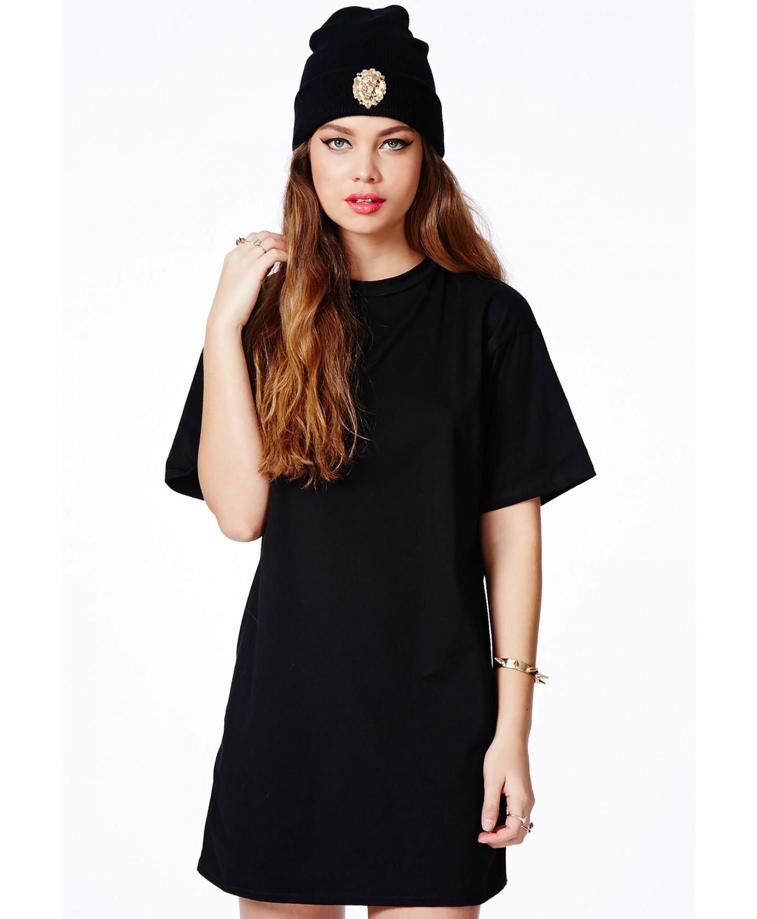 Oversized black t shirt - Gallery Women S T Shirt Dresses