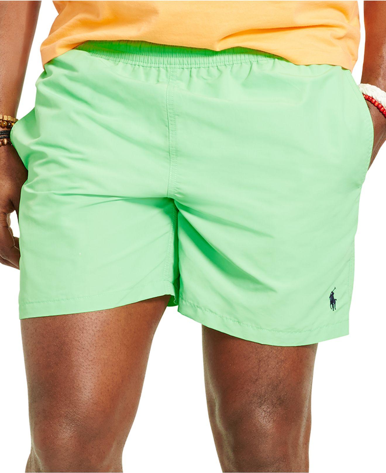 72ada7a78ad77 Polo Ralph Lauren Big & Tall Hawaiian Swim Trunks in Green for Men ...