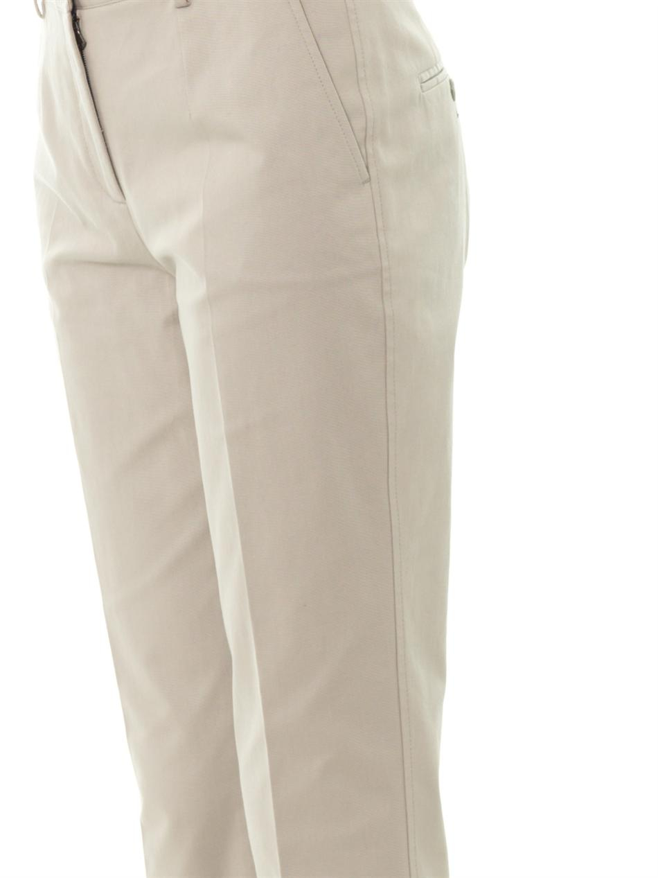 Dolce & gabbana Tailored Cotton Trousers in Gray