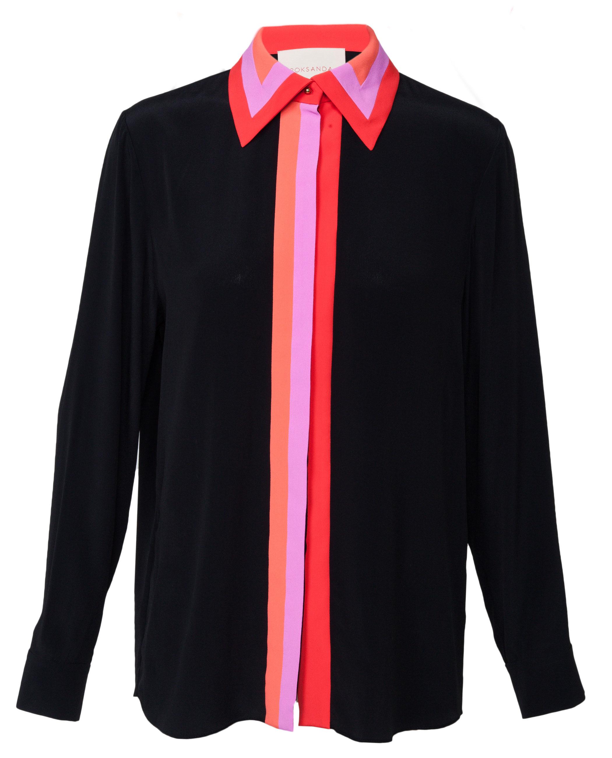Black t shirt red collar - Gallery