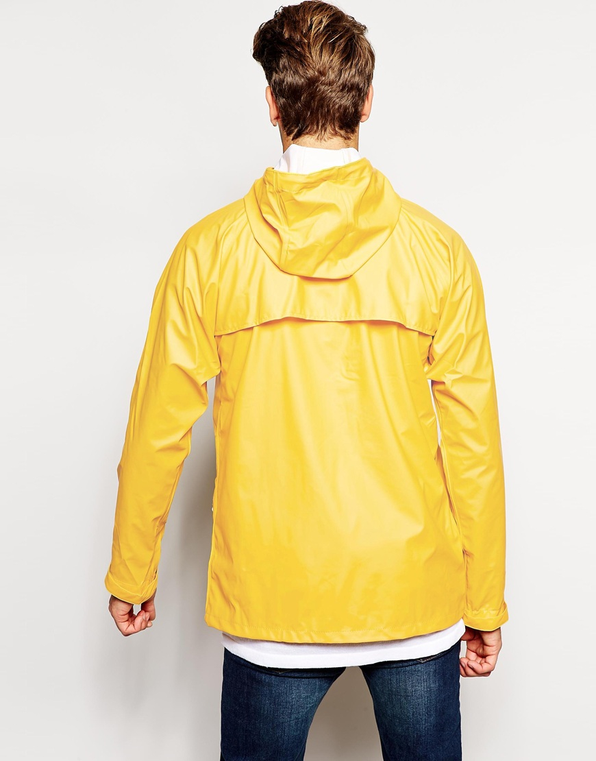 Another Influence Waterproof Jacket In Yellow For Men Lyst