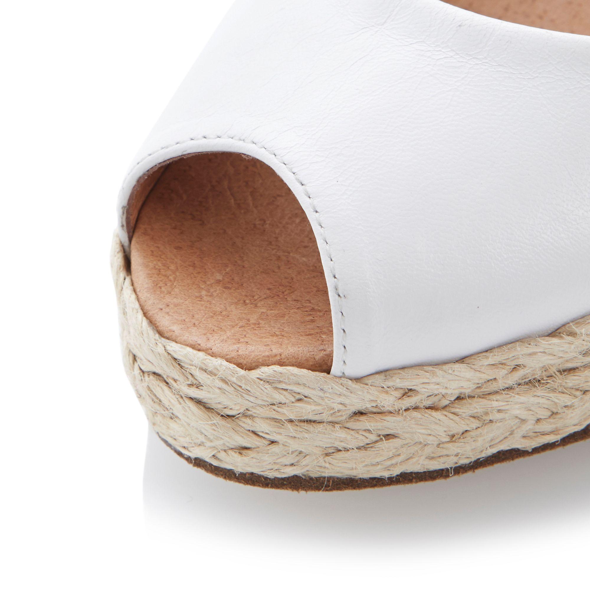 Blakc And White Peep Toe Sling Back Wedge Shoes