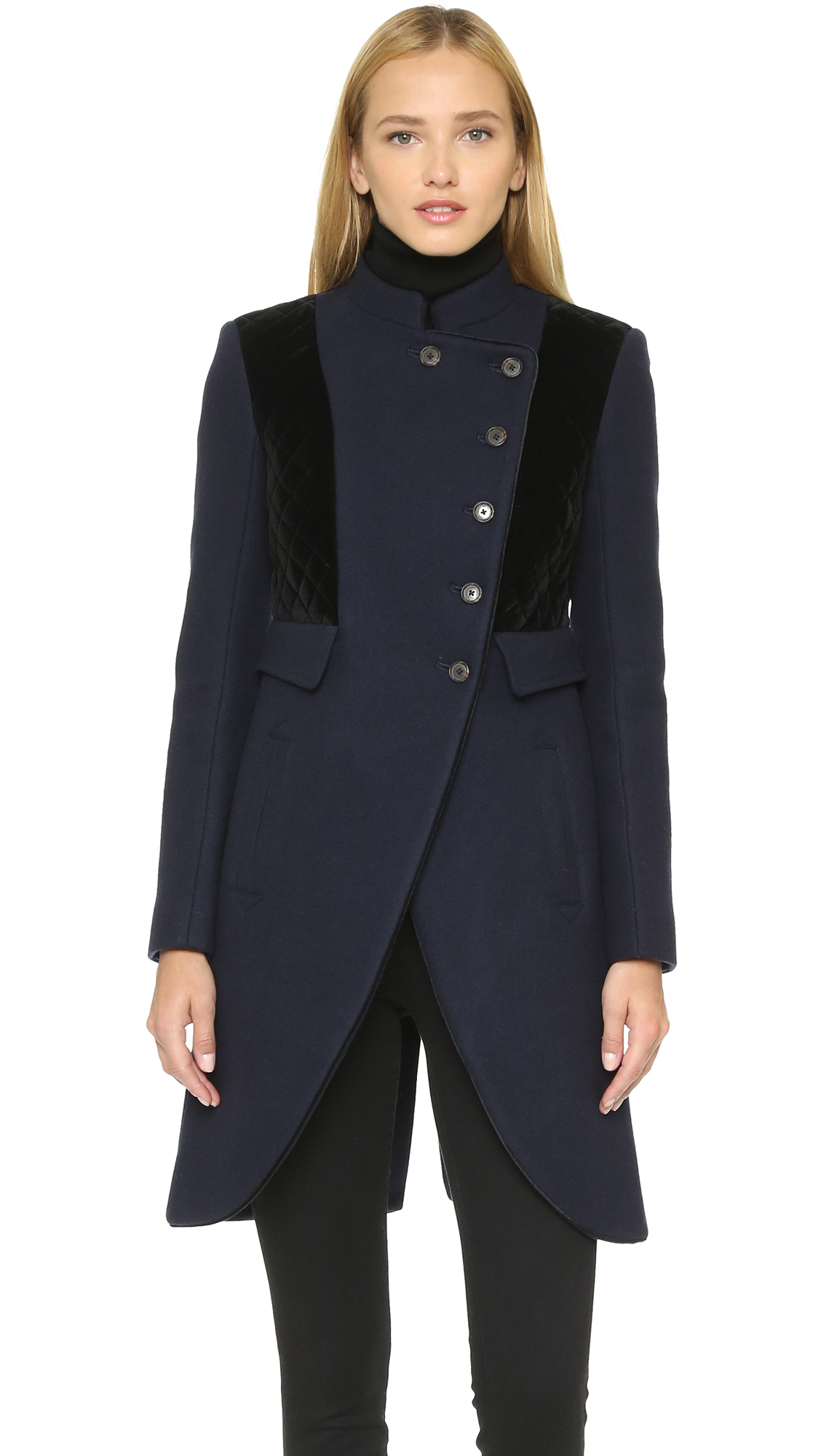 Marc by marc jacobs Norman Bonded Wool Coat - General Navy in Blue ...