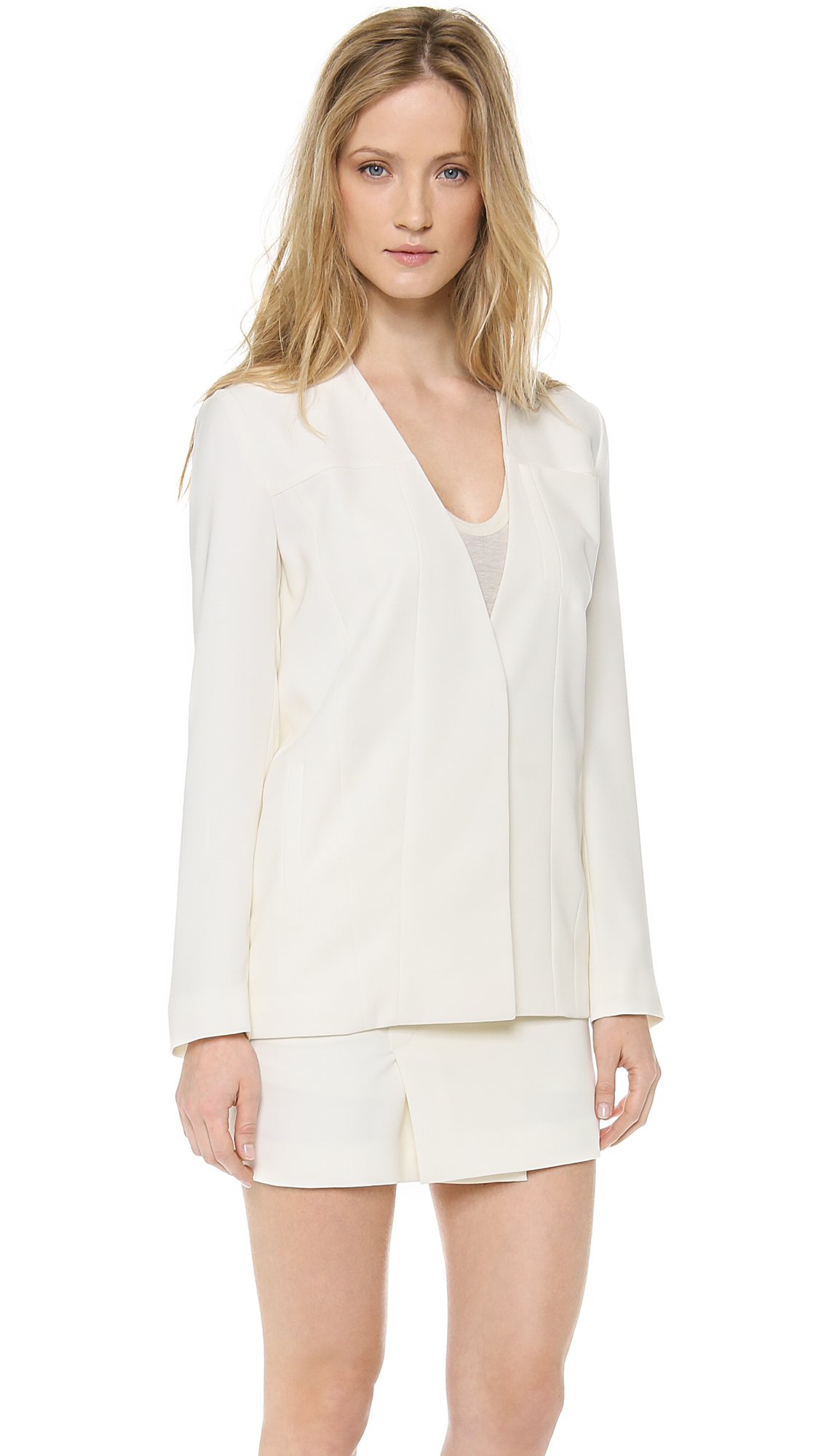Lyst T By Alexander Wang Draped Suiting Jean Stitch