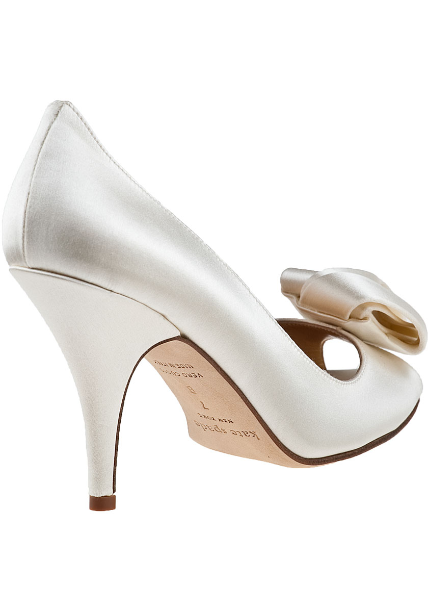58184a28c702 Kate Spade Clarice Evening Pump Ivory Satin in White - Lyst
