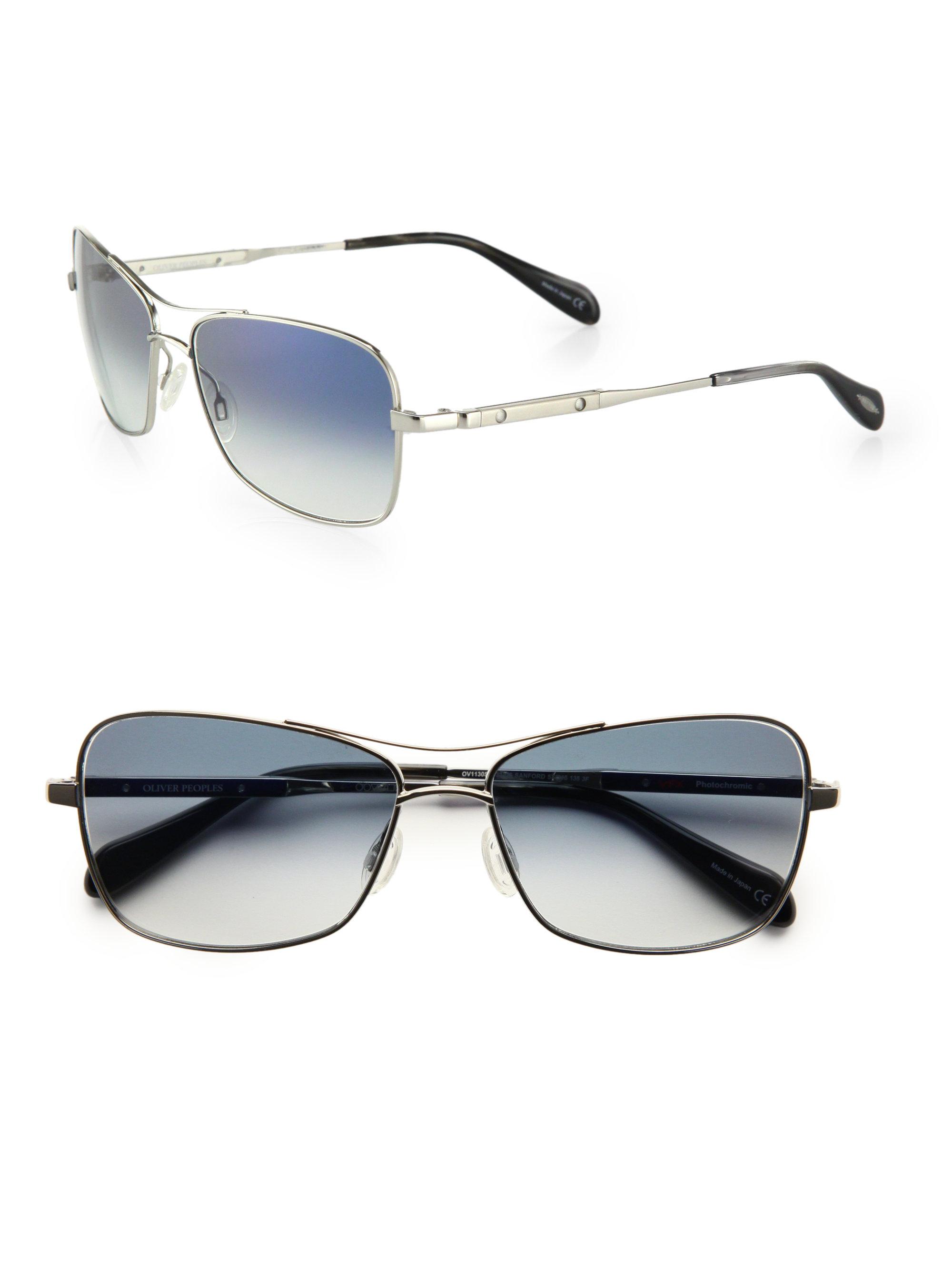 Lyst Oliver Peoples Sanford Metal Sunglasses In Blue For Men