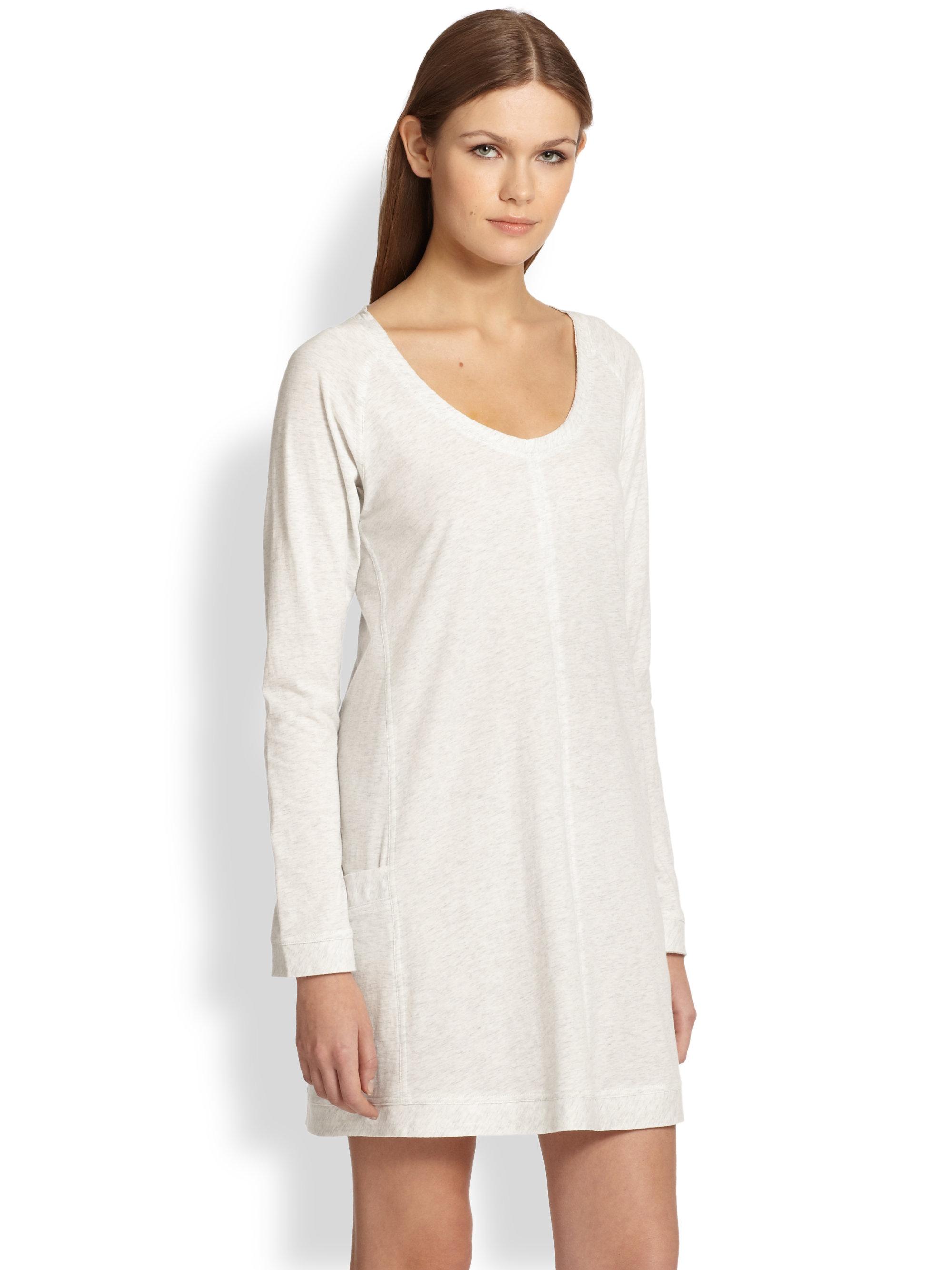 Lyst Donna Karan Sleep Shirt In White