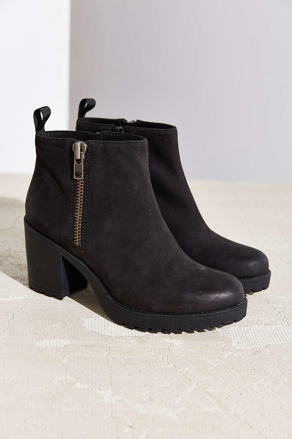 2b281efb5c Lyst - Vagabond Nubuck Grace Double Zip Boot in Black