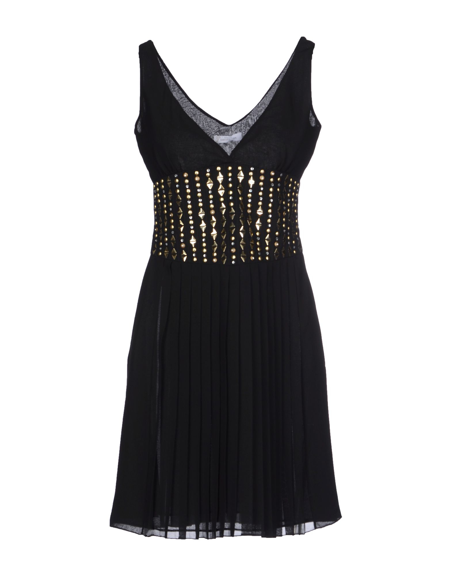 versace short dress in black lyst