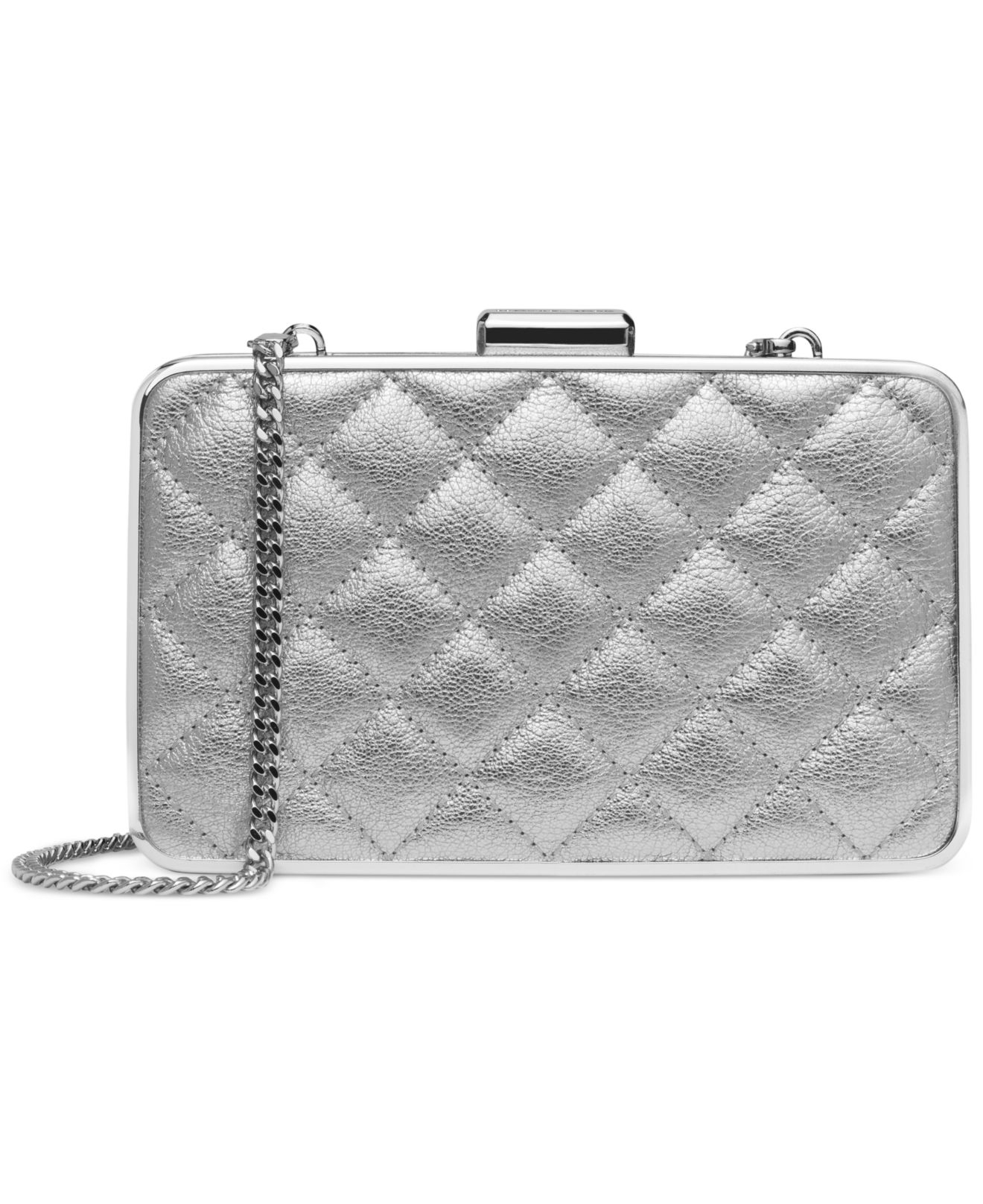 michael kors michael elsie quilted box clutch in metallic. Black Bedroom Furniture Sets. Home Design Ideas