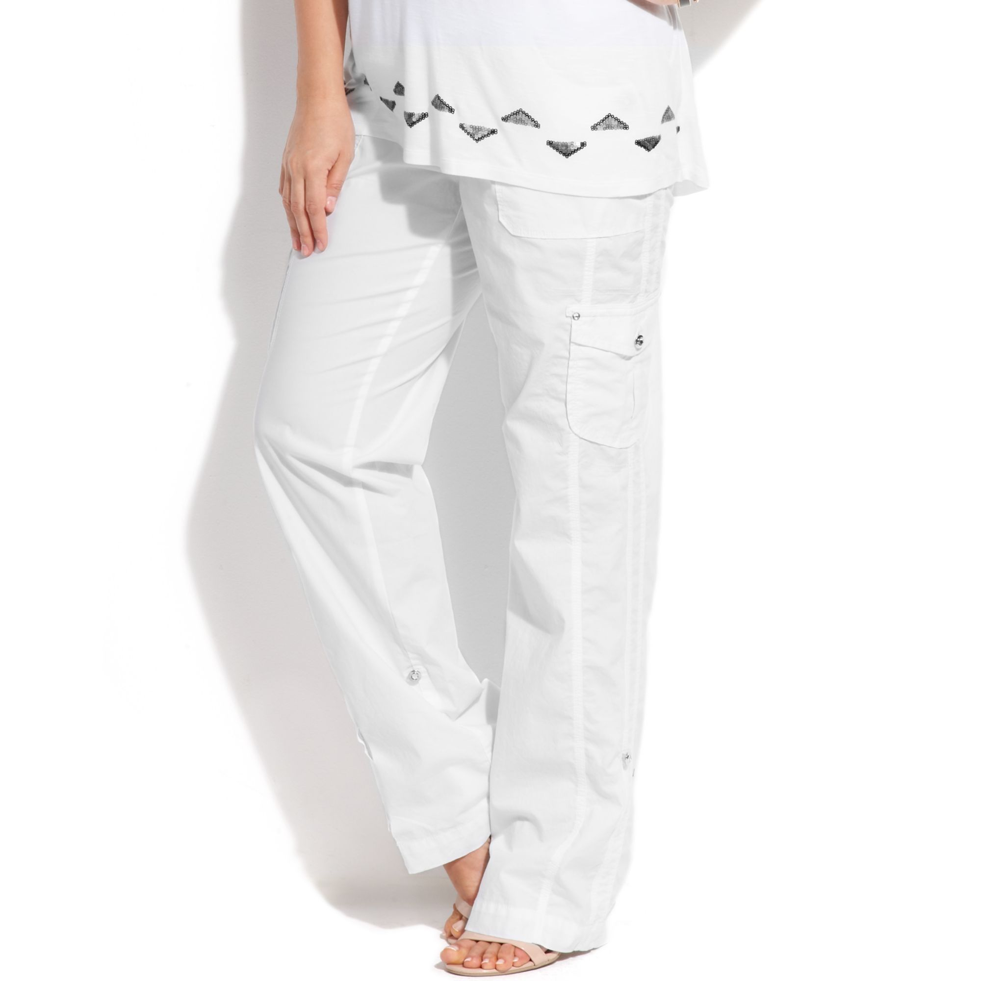 Inc International Concepts Plus Size Convertible Cropped ...
