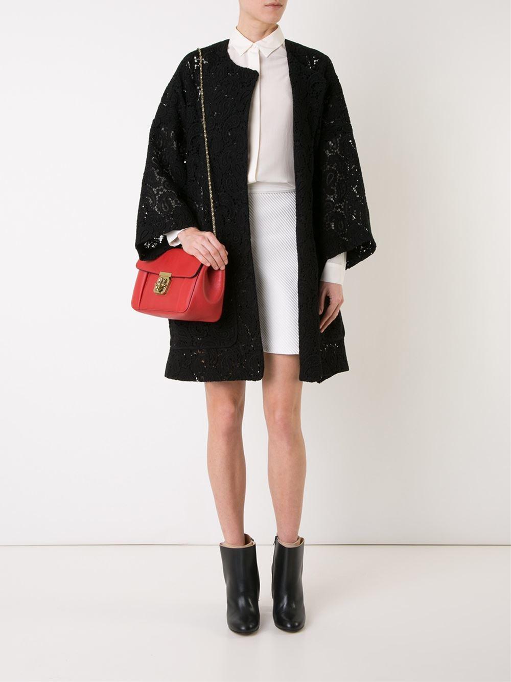 chloe best price - Chlo�� 'elsie' Shoulder Bag in Red | Lyst