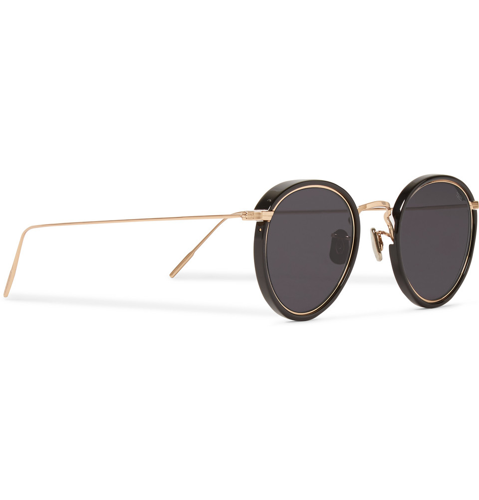 eb0197402da Lyst - Eyevan 7285 Round-Frame Acetate And Metal Sunglasses in ...