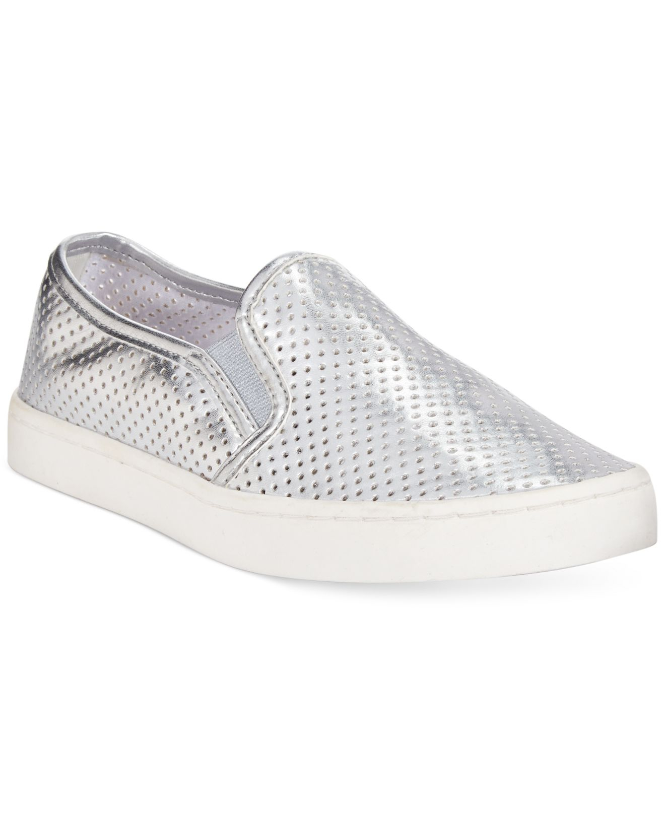f08fad07d2b566 Lyst - Report Arvon Perforated Slip On Sneakers in Metallic