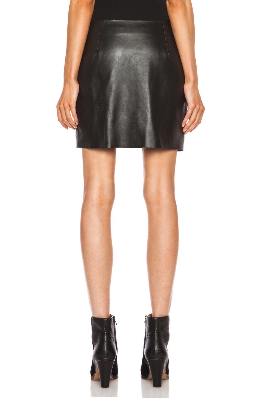 acne studios mini leather skirt in black lyst