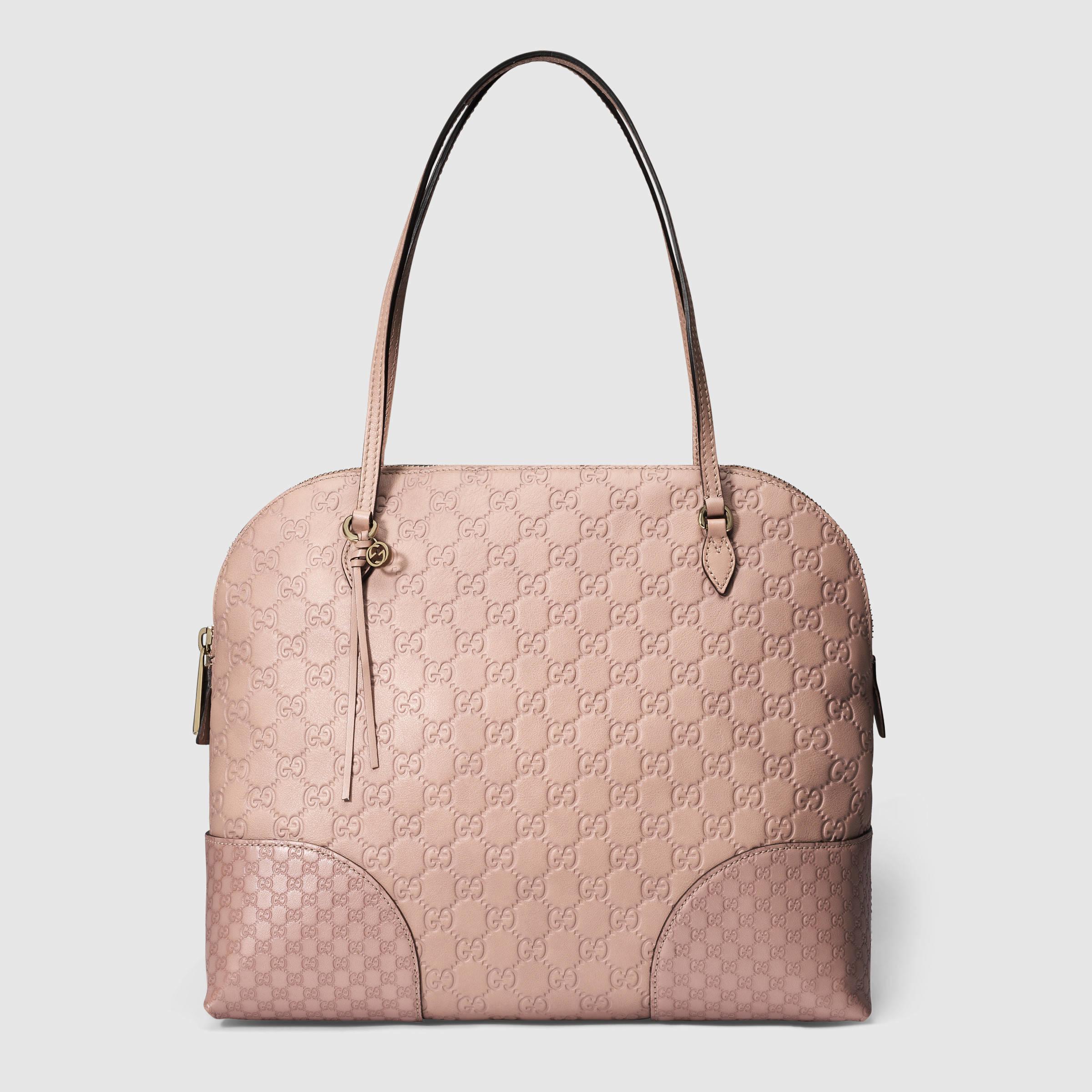 e871f5a8ff52 Gucci Bree Guccissima Shoulder Bag in Pink - Lyst