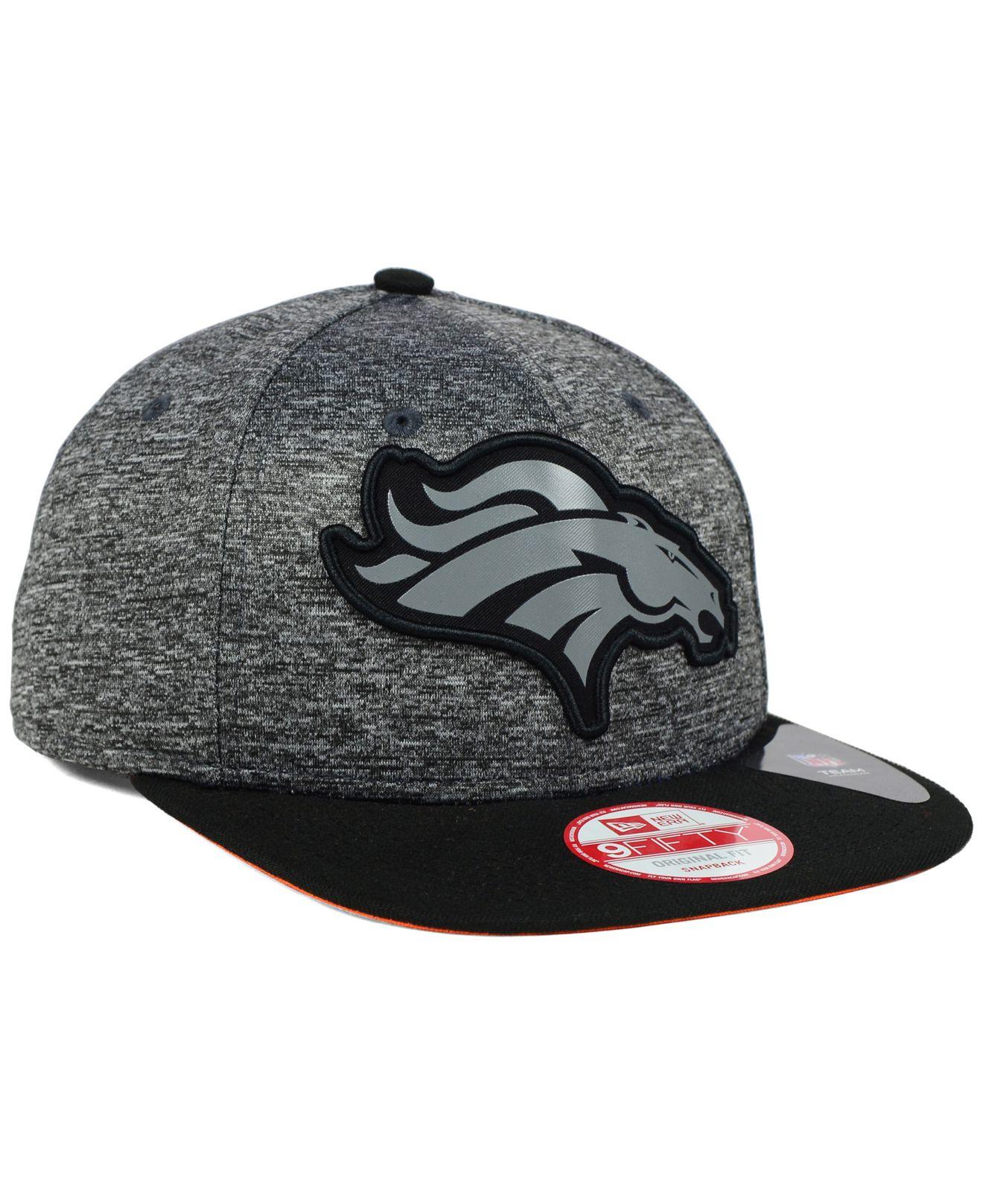 40037f59491 Lyst - KTZ Denver Broncos Gridiron 9fifty Snapback Cap in Gray for Men