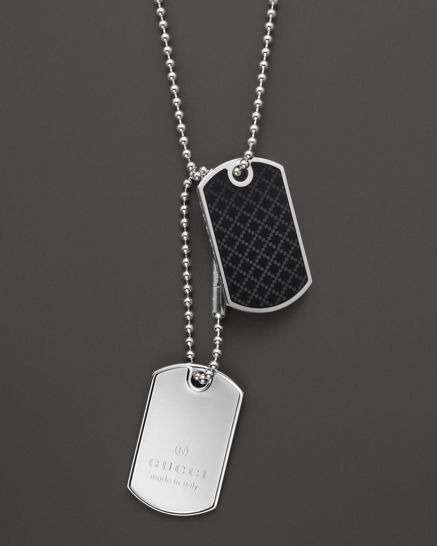 d2ff1271b Silver Dog Tag Pendant Design Ideas. Gallery Men S Anchor Necklaces. Lyst  Gucci ...